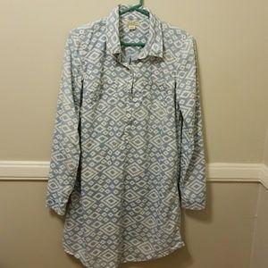 Lucky Brand Women's Chambray Button Dress